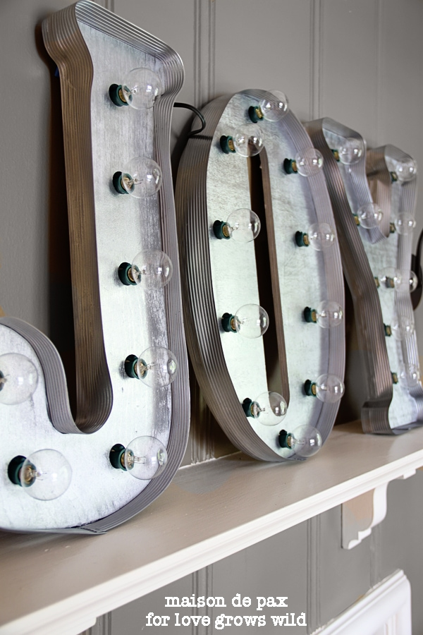 Easy DIY vintage letters Christmas craft for adults