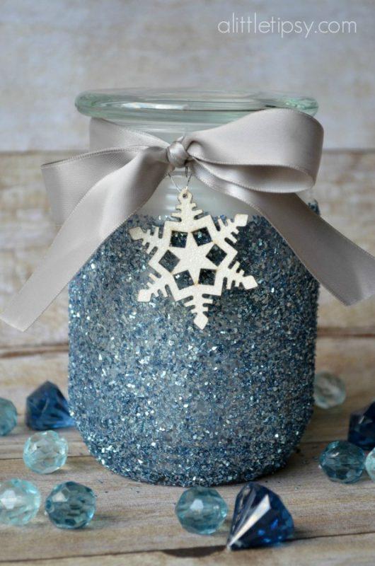 DIY Glitter Candle Holder Gift Idea