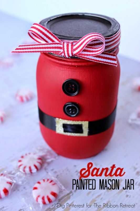 DIY Santa Mason JarCraft