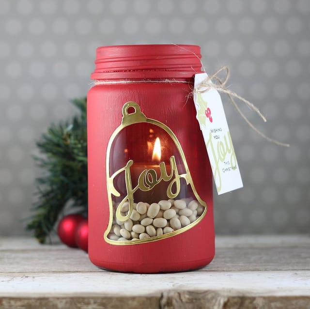 DIY Candle Holder Mason Jars