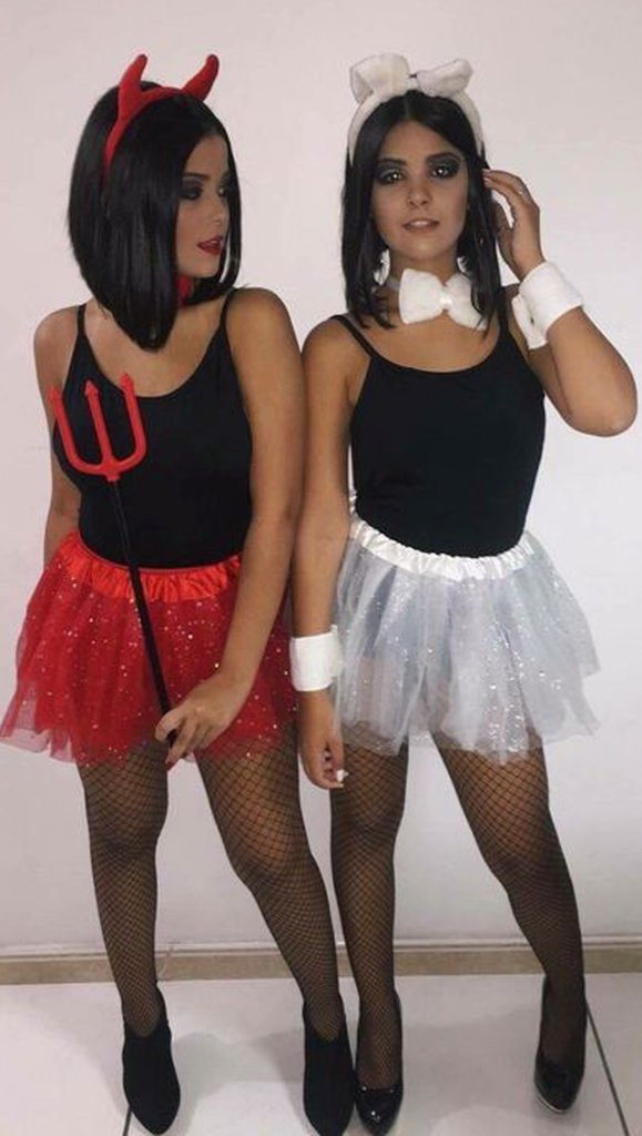 Easy devil costume and angel costume