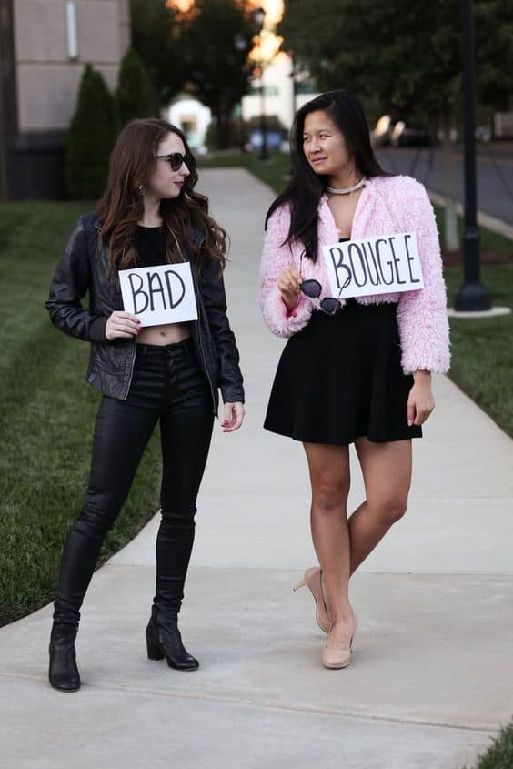 Affordable and easy funny DIY Halloween costume for best friends