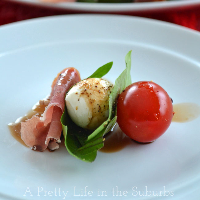 Easy New Year's Eve Party Appetizers For A Crowd: Prosciutto Caprese Bites