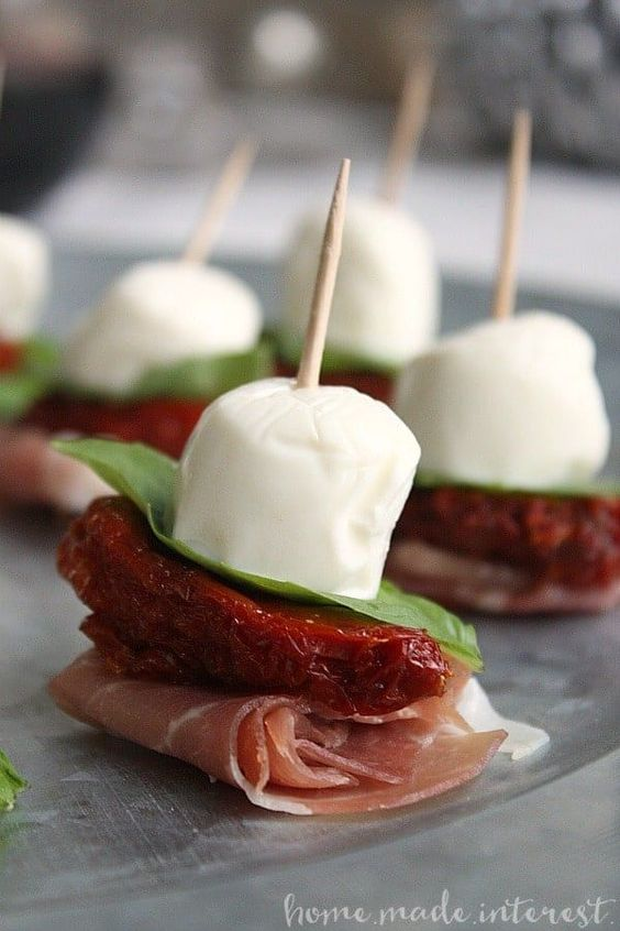 Easy New Year's Eve Party Appetizers For A Crowd: Antipasto Skewers