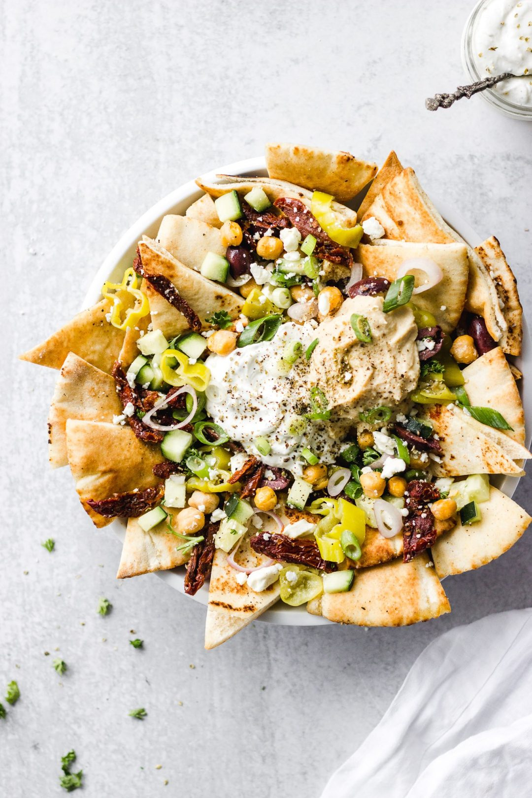 Easy New Year's Eve party appetizers: Mediterranean Nachos