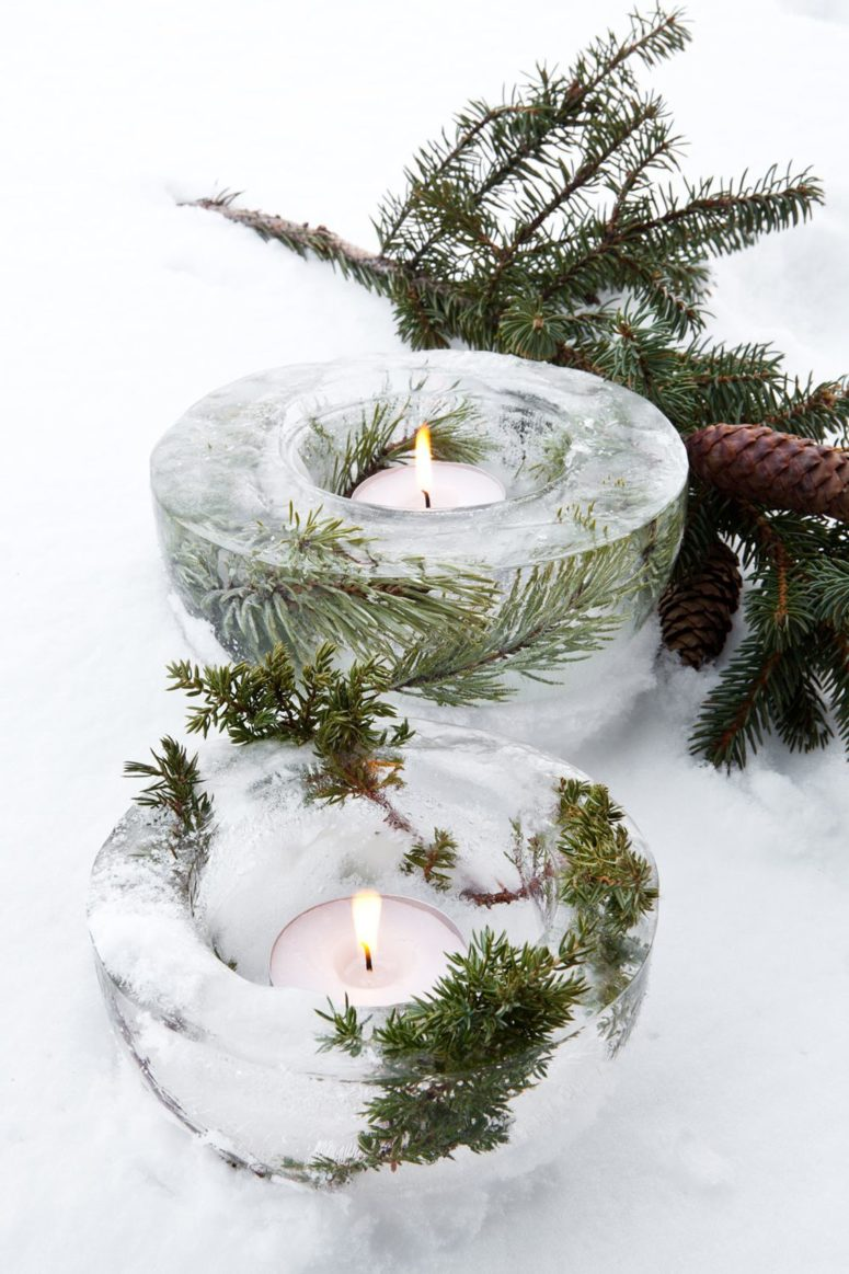 Easy DIY Pinecone Candle Holders For Christmas