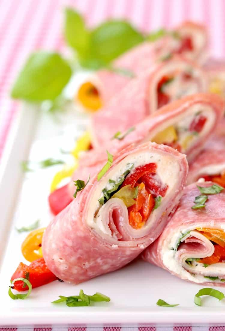 Best pinwheel appetizers: Italian Deli Roll Ups