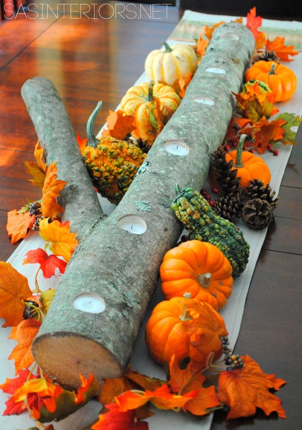 Rustic centerpiece for Thanksgiving