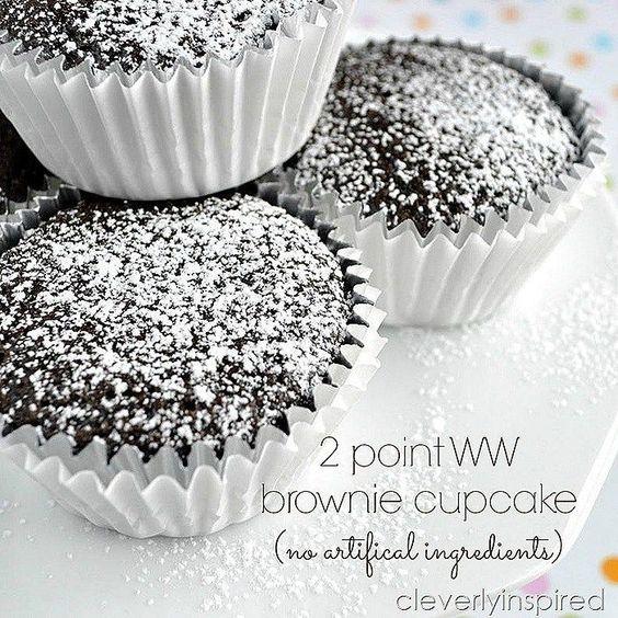 Weight Watchers 2 Point WW Brownie Cupcakes