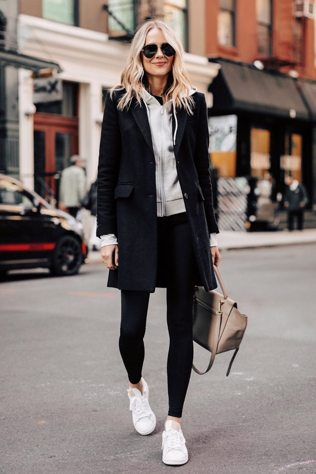 Sporty outfits, casual outfits and black leggings outfit idea