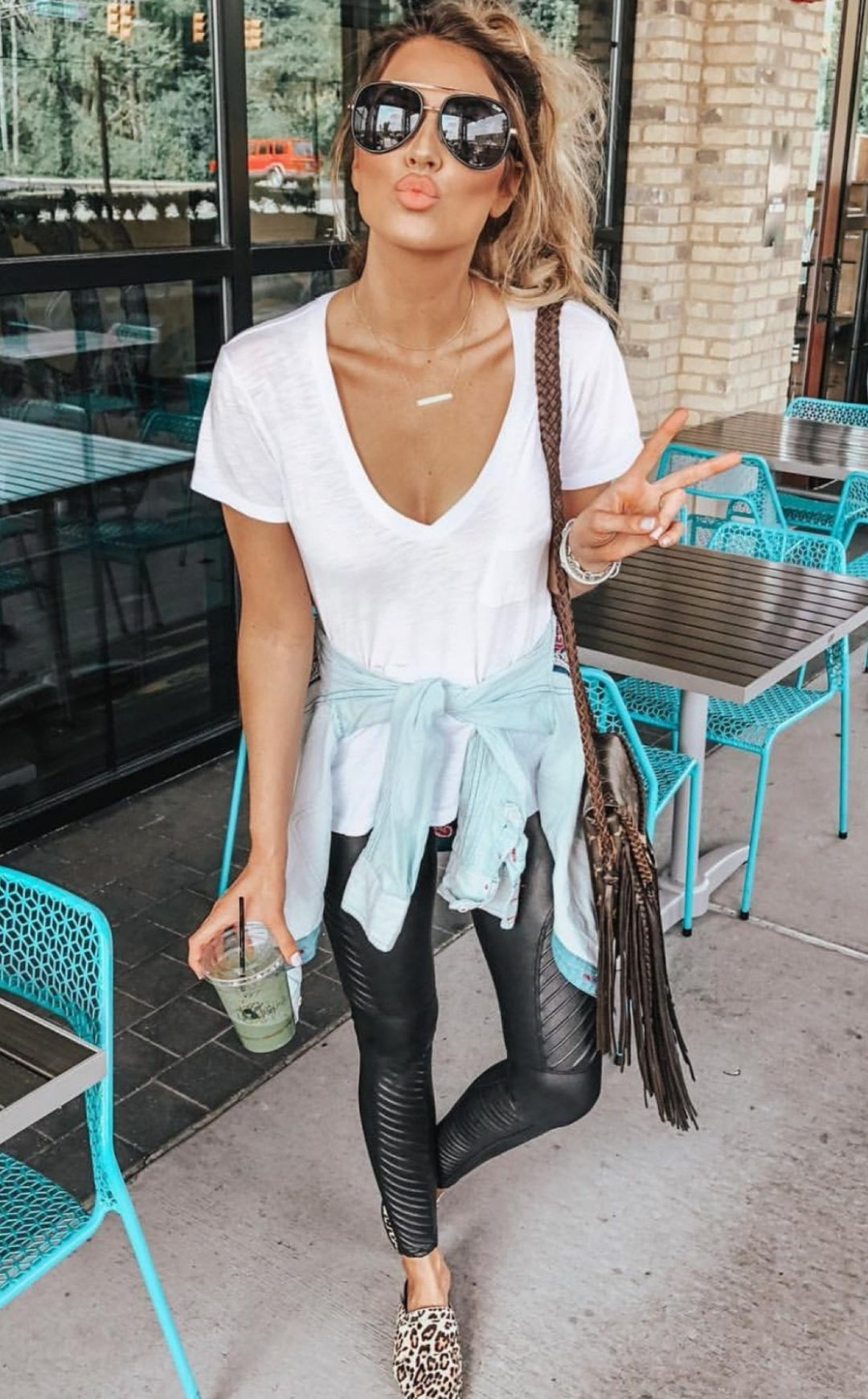 Cute black leggings outfits for summer