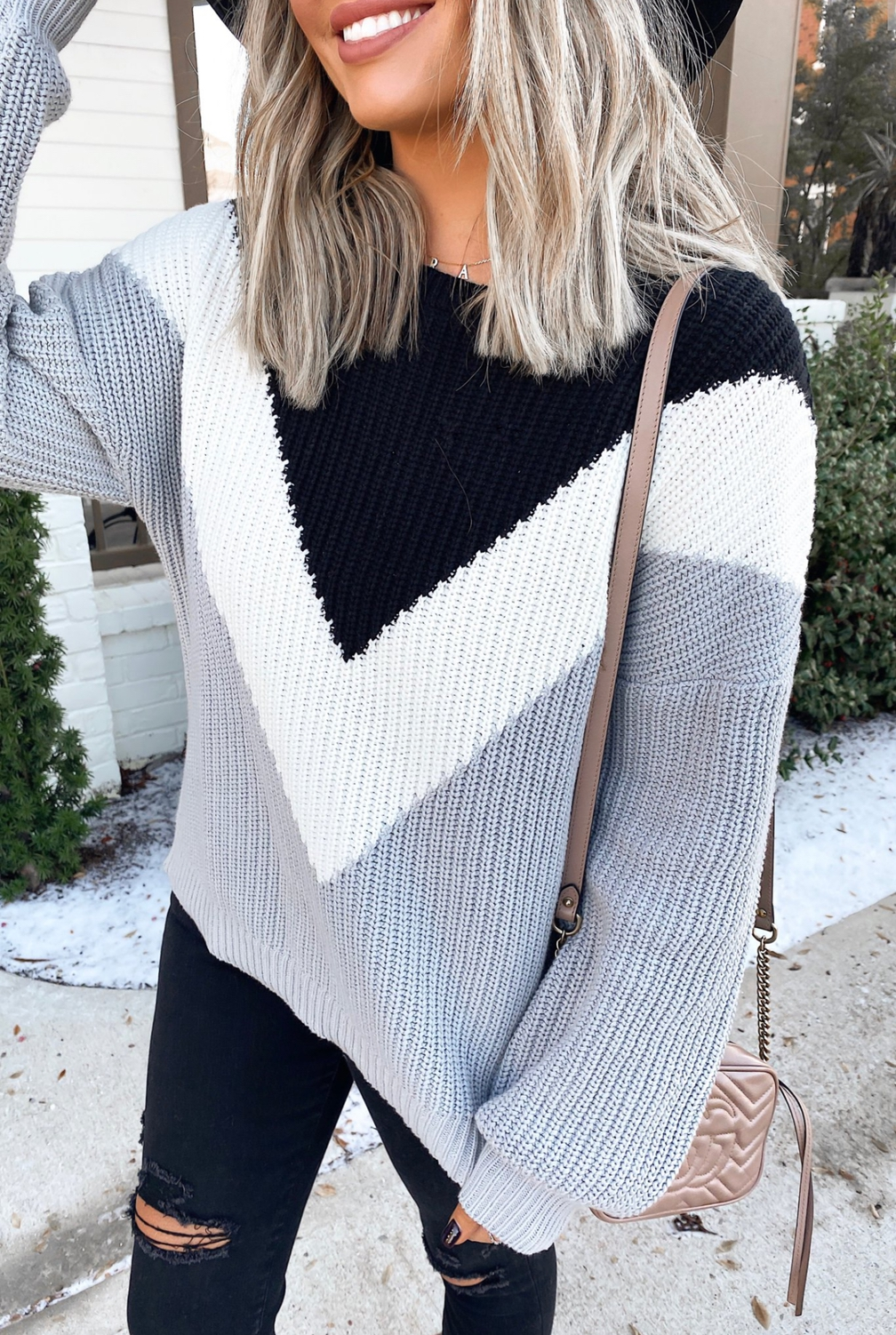 Grey sweater outfits for fall