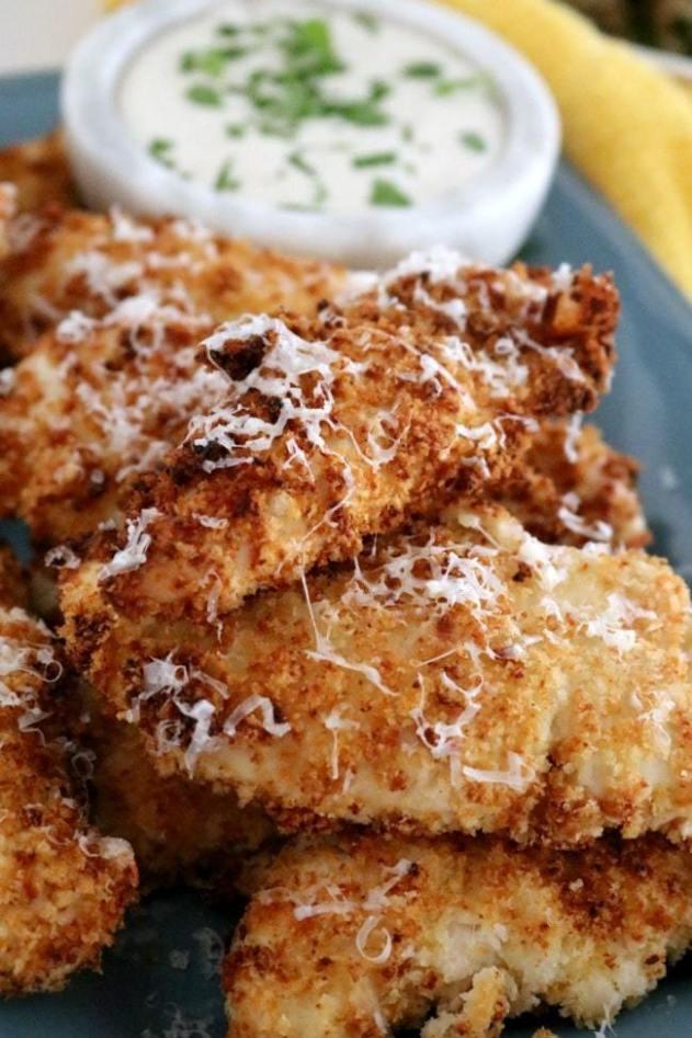 Air Fryer Garlic Parmesan Chicken Tenders