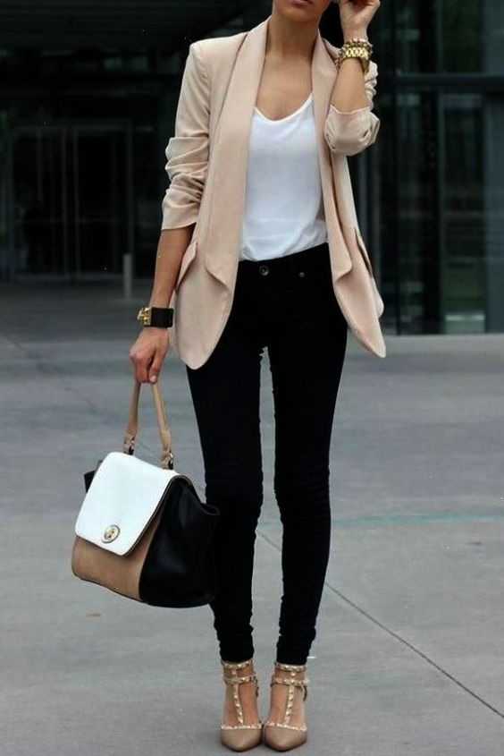 business casual outfits for women, chic blazer outfits and work outfits for women