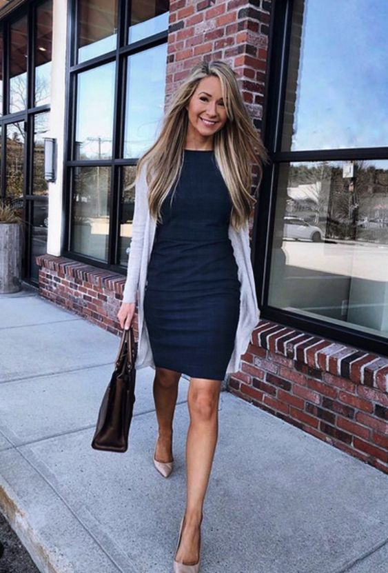 Chic business casual outfits with dresses, work outfits for women