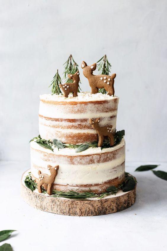 Lemon & Elderflower Christmas Cake with Chai Spice Biscuits (Vegan)
