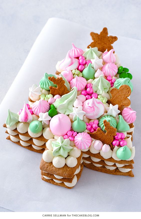 Cream Tart Christmas Tree Cake Idea