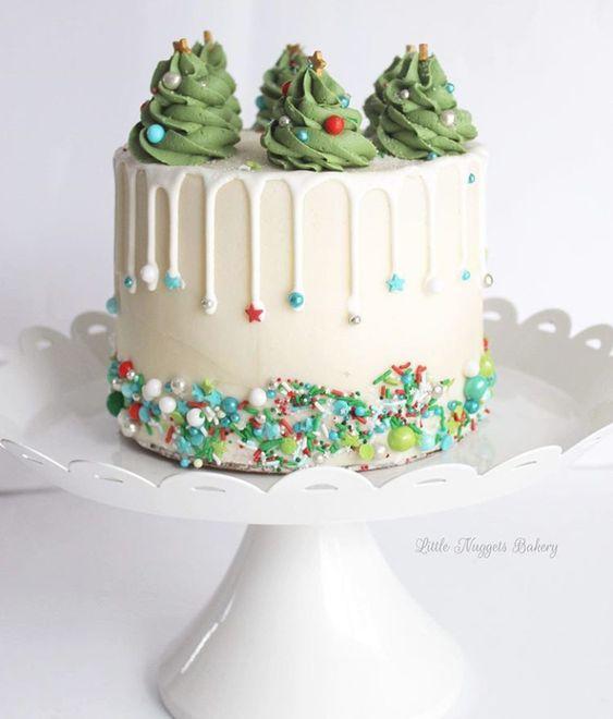 Christmas Cake Idea With Sprinkles
