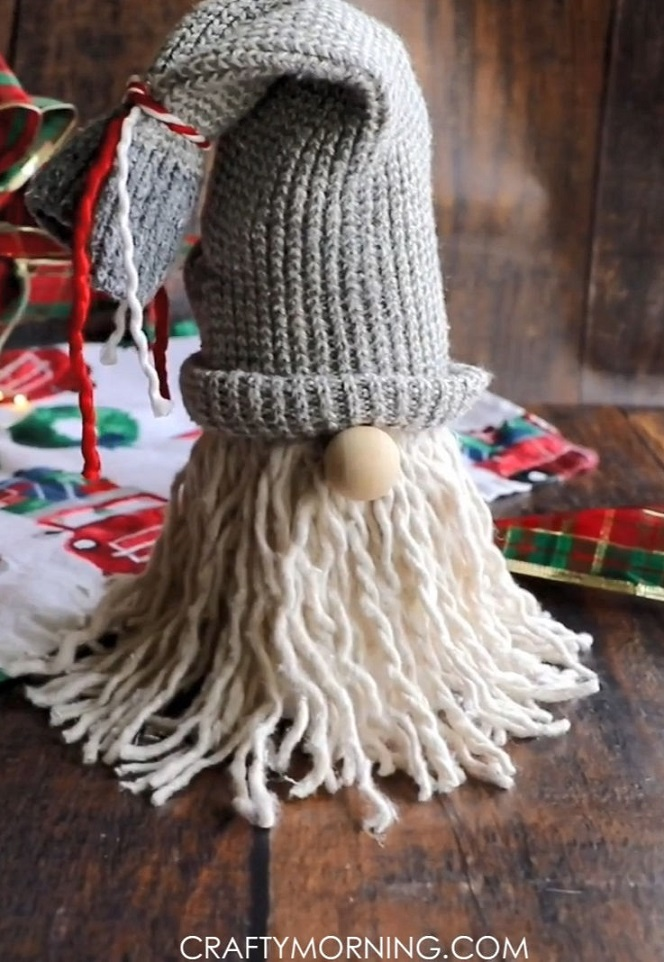 Easy DIY Mop Gnomes Christmas Craft For Adults