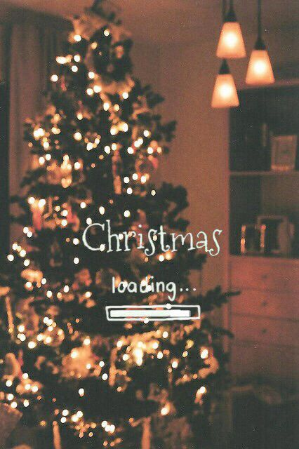 Christmas quotes wallpaper with Christmas tree aesthetic