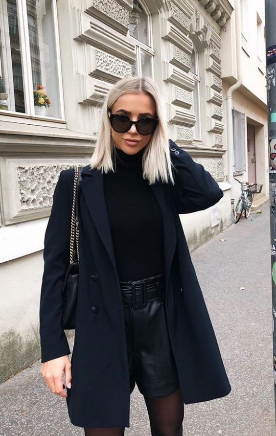 All black outfits for ladies - blazer outfits