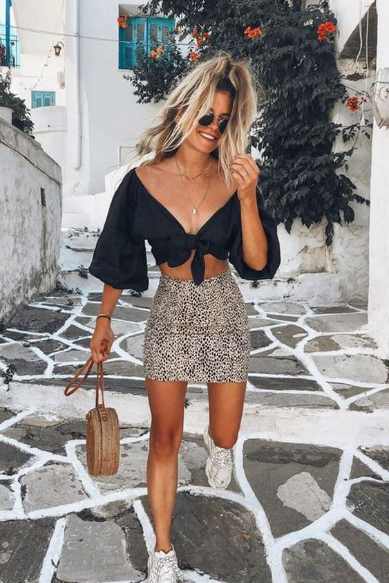 Col summer outfits with skirts