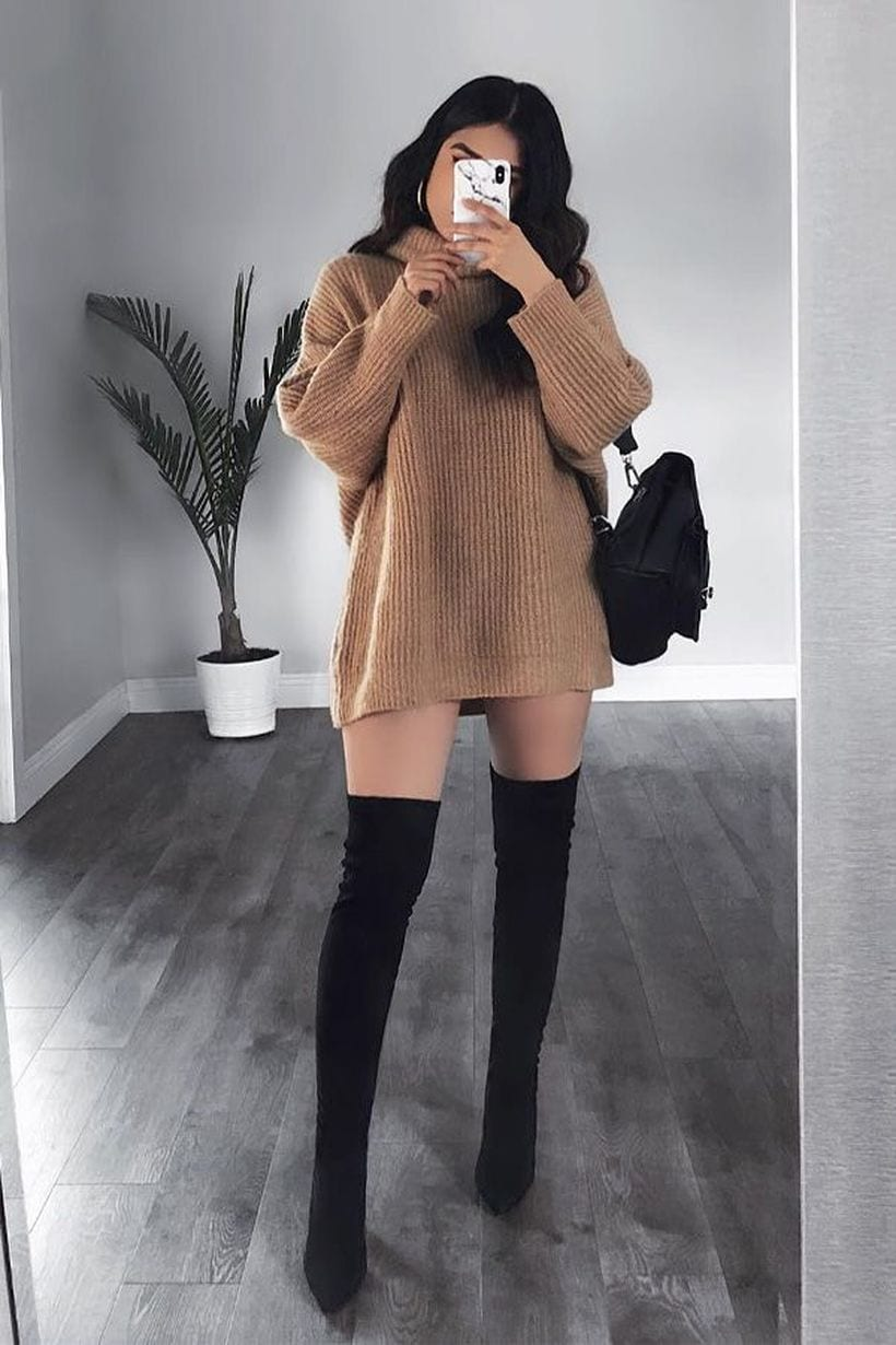 Cool outfits with over the knee boots