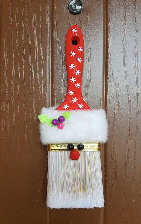 DIY Santa Ornament Paint Brush