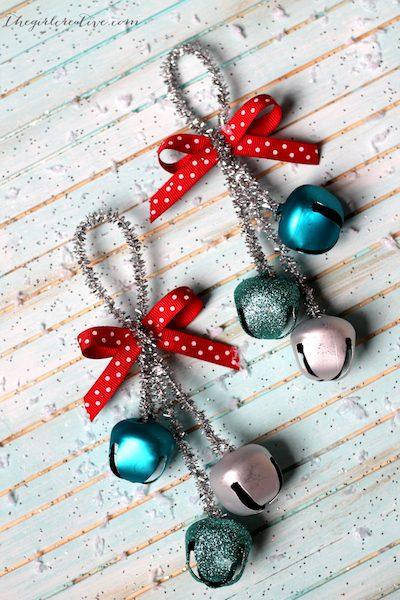 DIY Jingle Bells Christmas Ornaments