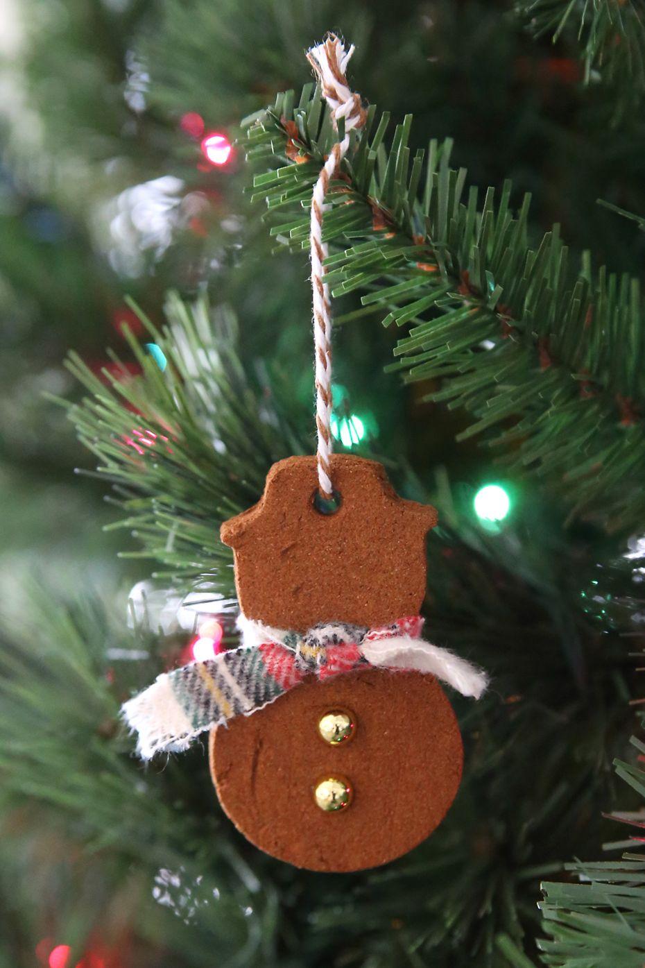 Gingerbread Snowman Christmas Ornament