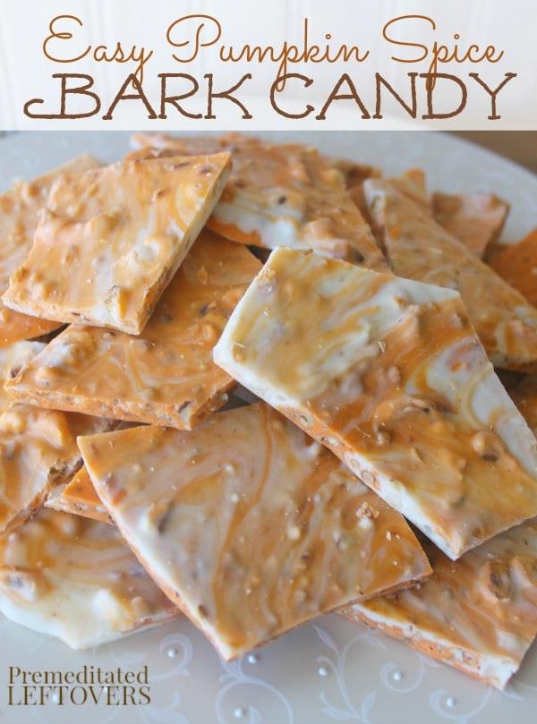 Easy Pumpkin Spice Bark Candy