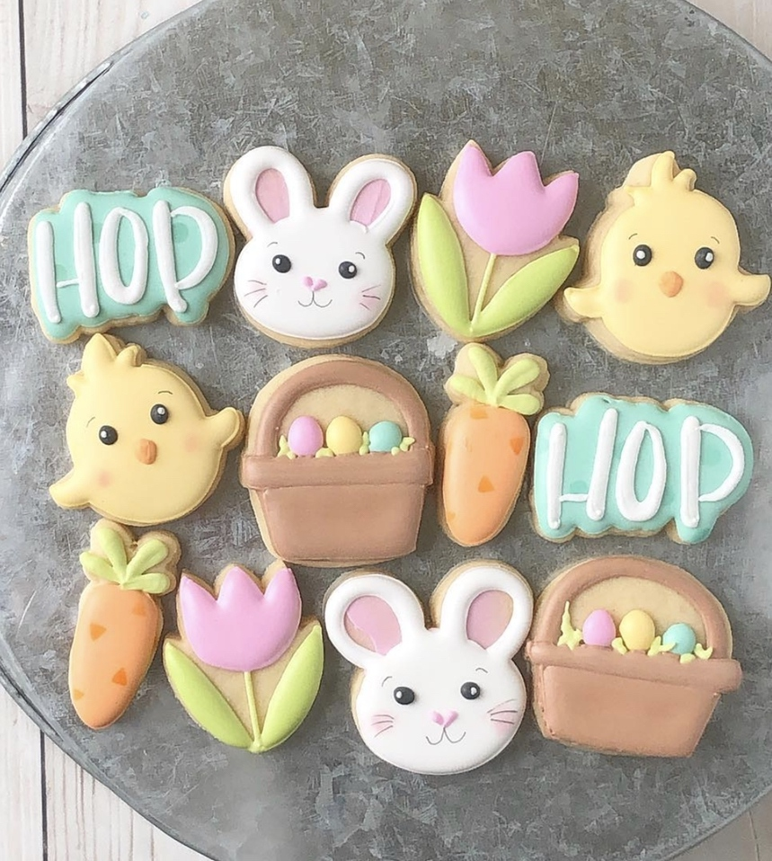 Cute Decorated Easter Cookies