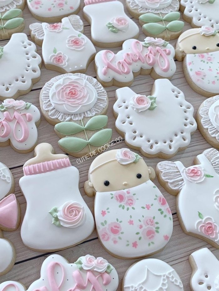 baby shower cookies girl, baby shower cookie ideas