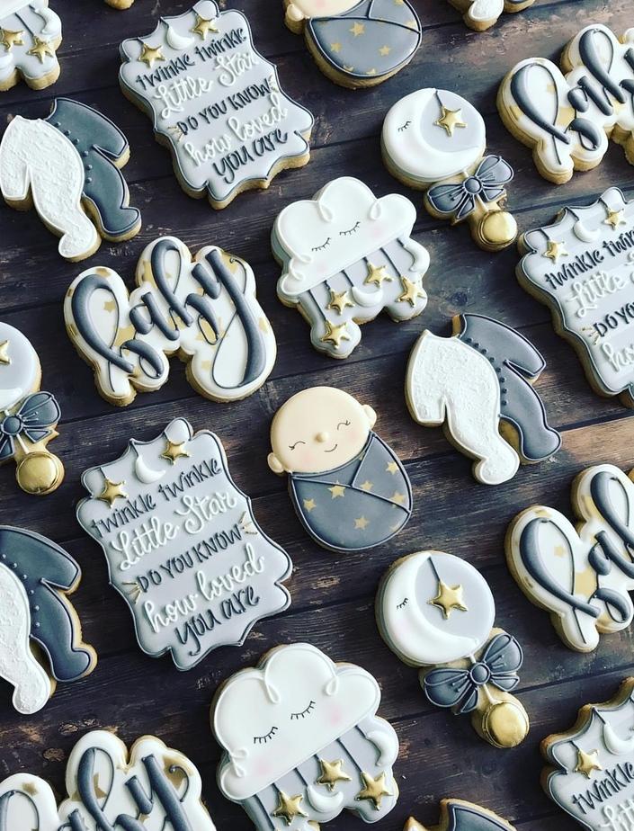 baby shower cookies boy, baby shower cookie ideas
