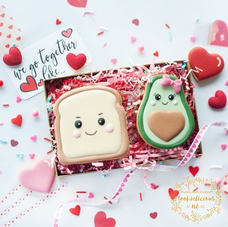 Cute sugar cookies with characters