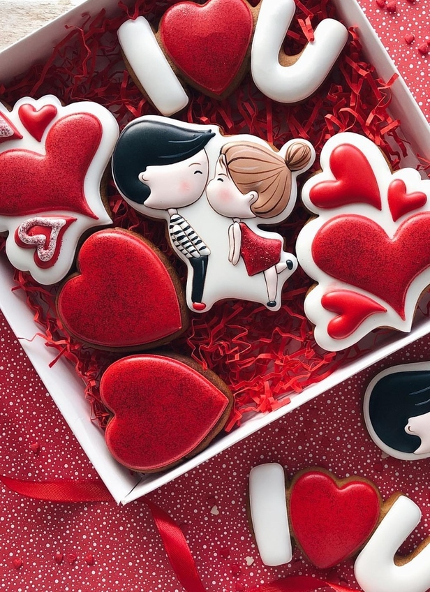 Cute valentine's day cookies for couples