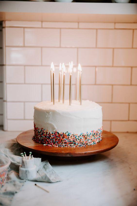 Classic Chocolate Birthday Cake With Sprinkles