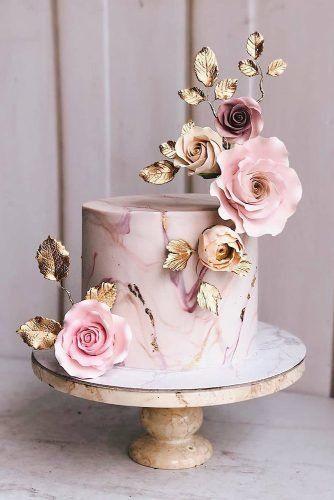 Beautiful pink unique birthday cake ideas: Dusty Rose Cake