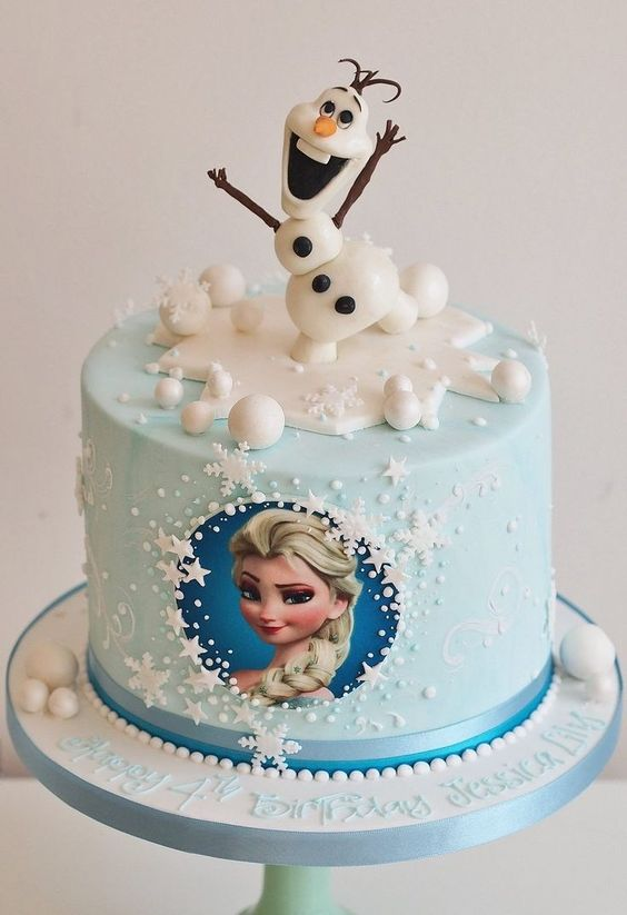 Unique birthday cake ideas: Frozen Cake and Elsa Cake For Kids and Olaf Cake