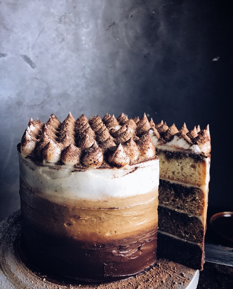 Tiramisu Ombre Cake