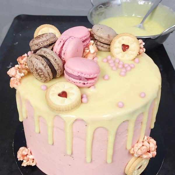 White Chocolate Ganache Drip Cake
