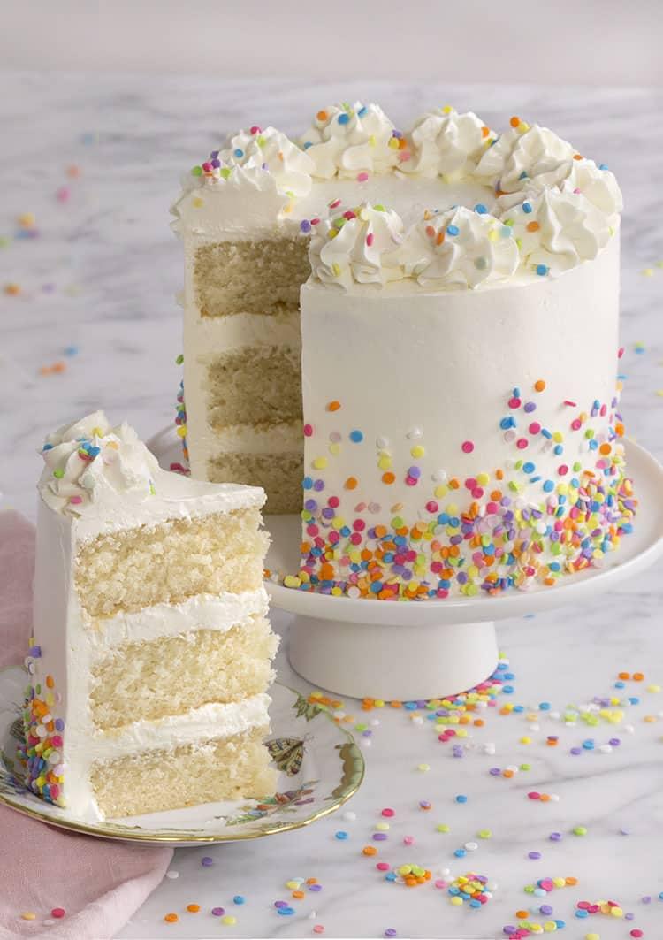 White Cake With Sprinkles