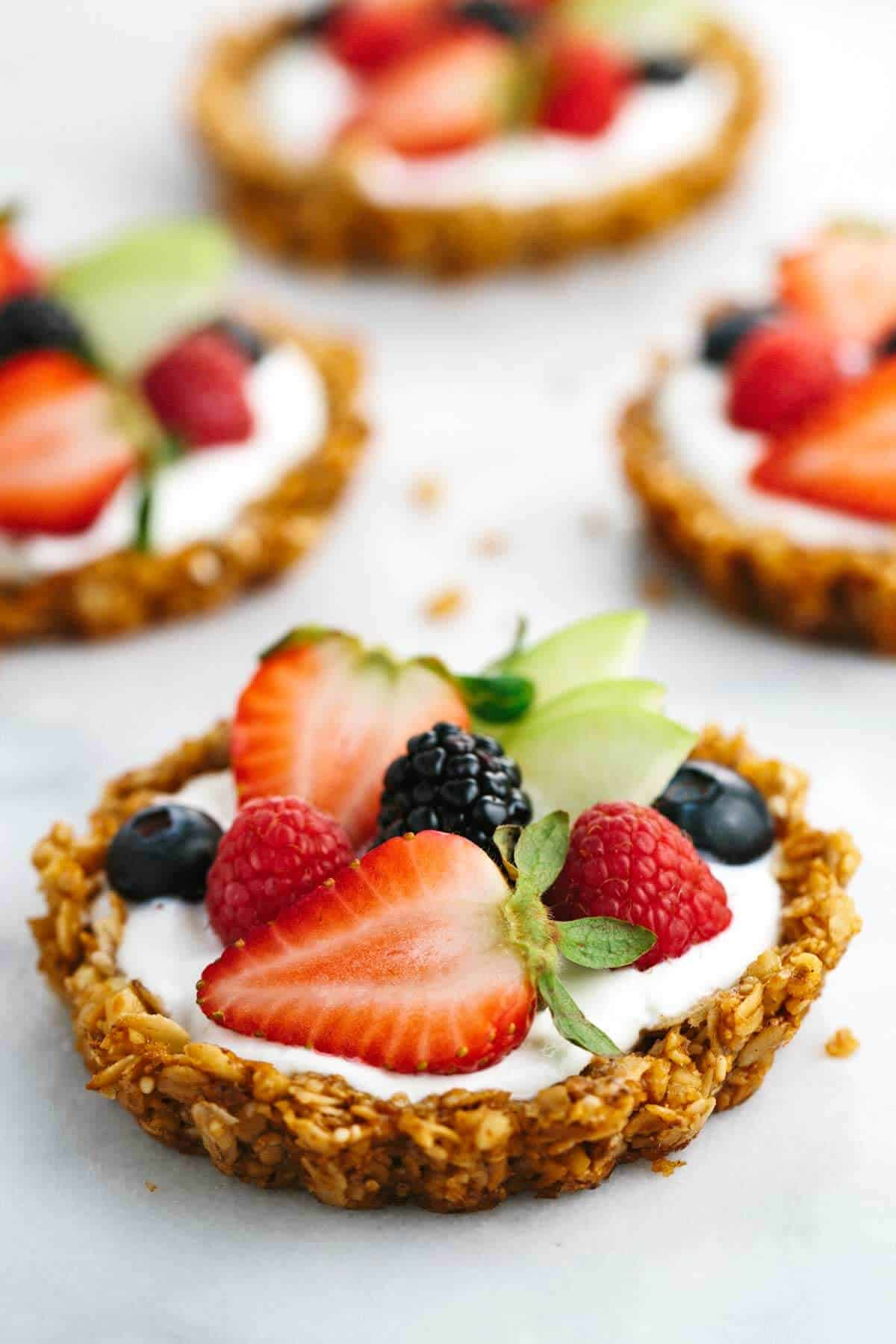Breakfast Granola Fruit Tart