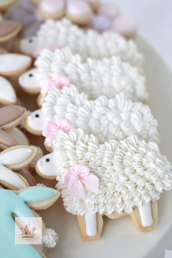 Perfectly Decorated Lamb Cookies