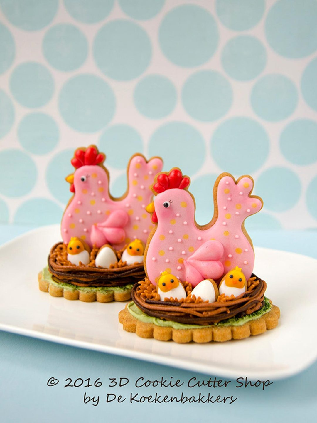 Decorated Chicken & Egg Cookies