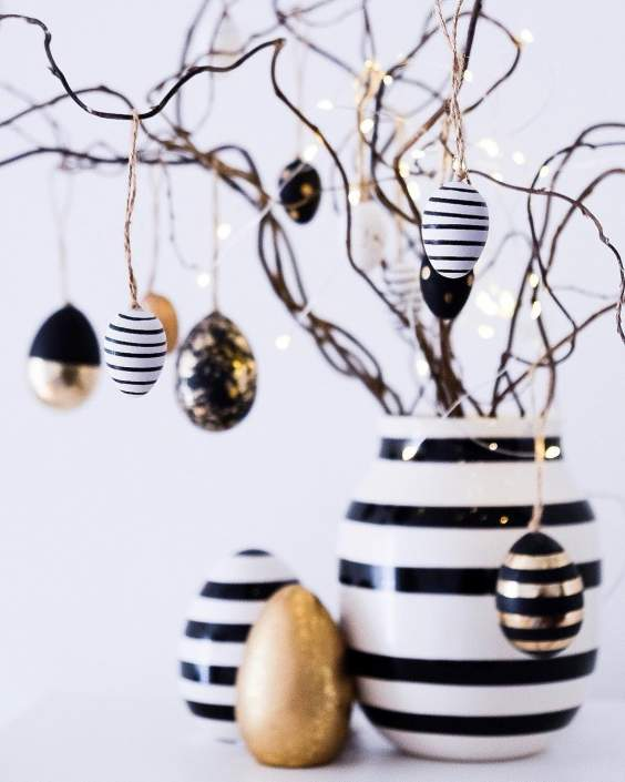 Black And White Easter Centerpiece