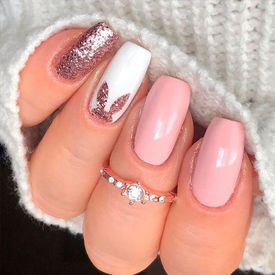 Pink playboy bunny nails