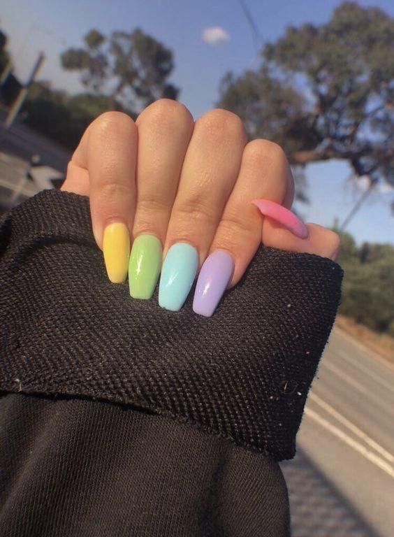 Pastel nails acrylic