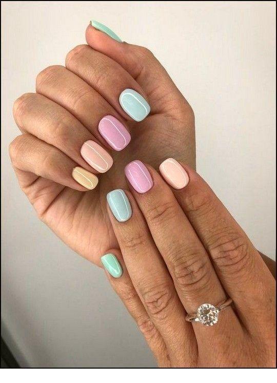 Pastel spring nails for short nails