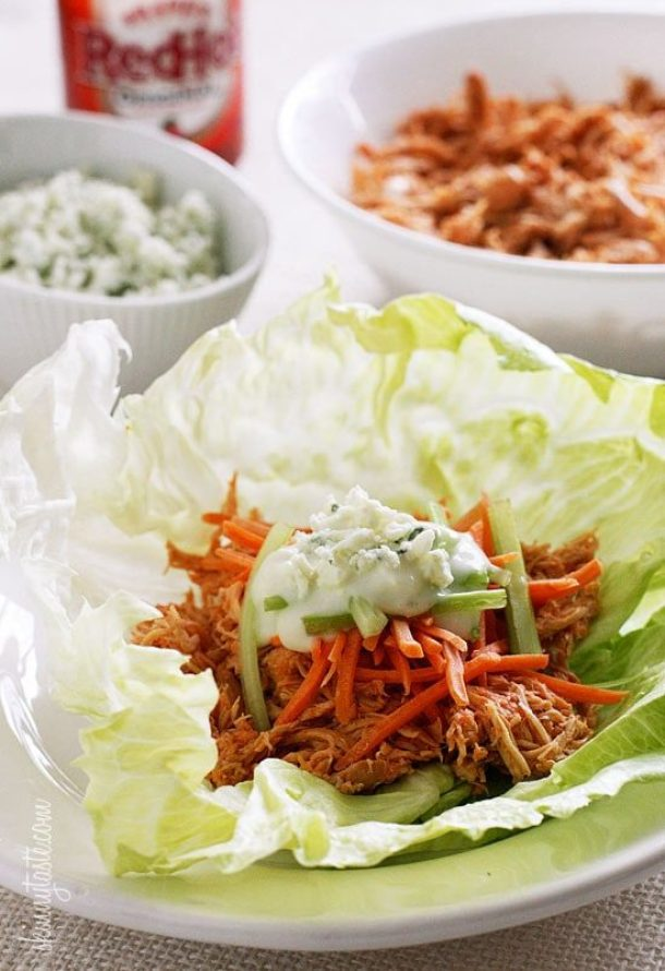 Easy weight watchers chicken recipes with smartpoints: Buffalo Chicken Lettuce Wraps
